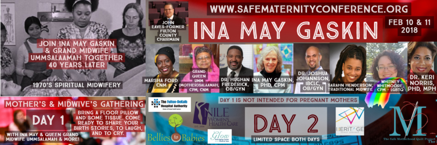 INA MAY GASKIN RETURNS TO ATLANTA- February 10 & 11 Sandy Springs